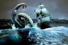 Кракен топит корабль