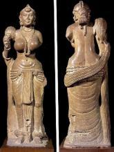 Статуя якши-женщины в Индии